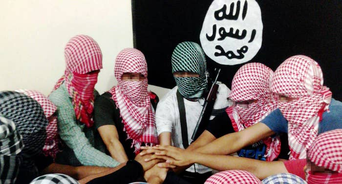 ISIS claims this photo from the latest issue of Dabiq magazine shows ISIS fighters in Bangladesh.