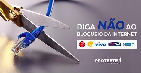 A PROTESTE, entidade de defesa do consumidor, discorda da Anatel e diz que as operadoras estão ferindo o Marco Civil da Internet.