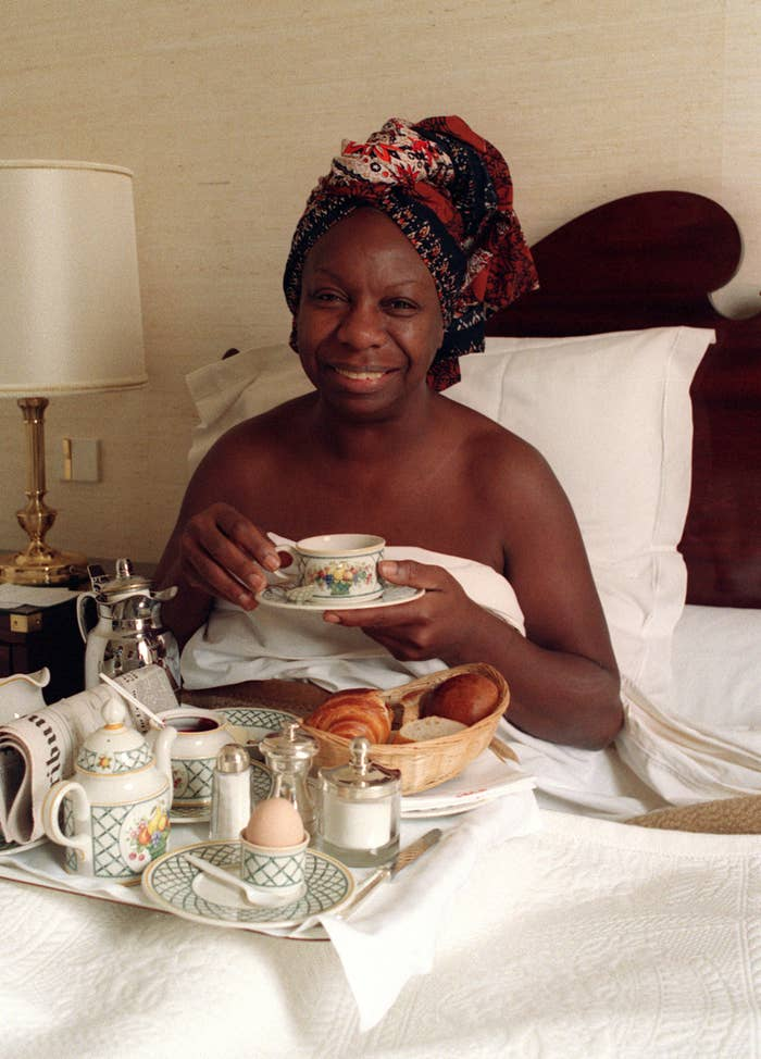 Nina Simone in France in July 1988.