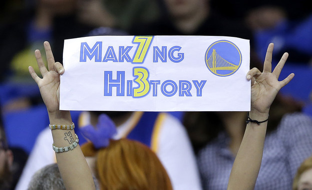 The Warriors' golden season came to a historic end in Oakland on Wednesday night with a 125-104 win over the Memphis Grizzlies to seal the record for most-ever wins in an NBA season.