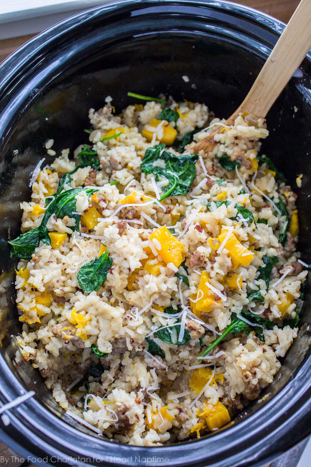 Risotto With Butternut Squash and Sausage