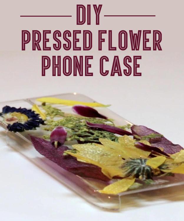 TODO LO QUE PUEDES HACER CON UNA FUNDA TRANSPARENTE Flower phone case
