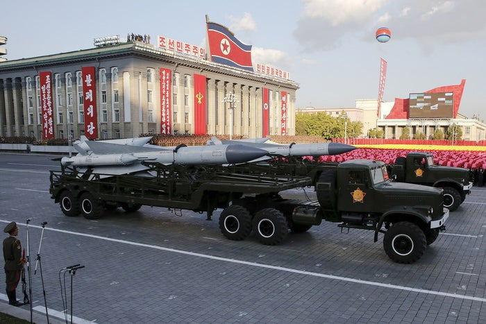 While North Korea has never successfully tested the three types of missiles in question, the country has frequently shown them off during parades.