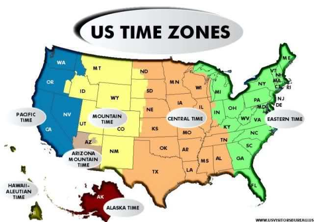 List Of US States By Time Zone Simple English Wikipedia The Time - Map us timezones