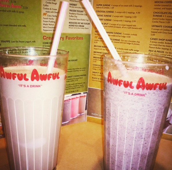 Awful Awful milkshakes from the Newport Creamery — Newport, Rhode Island