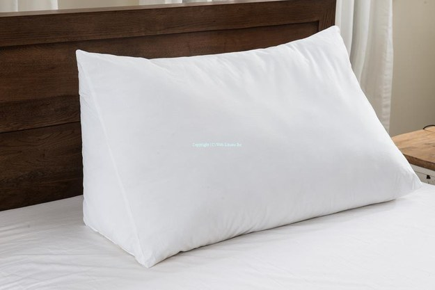 This super soft, wedge-shaped pillow that provides extra support for reading in bed.