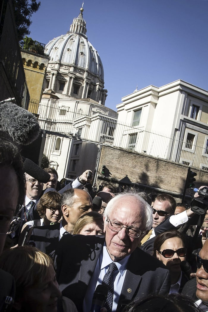Bernie Sanders at the Vatican on Friday.