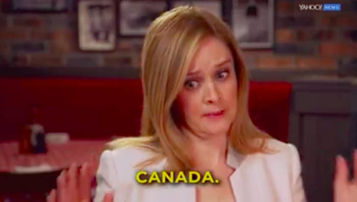 (Don't worry, she gave proper credit to Quebec.)