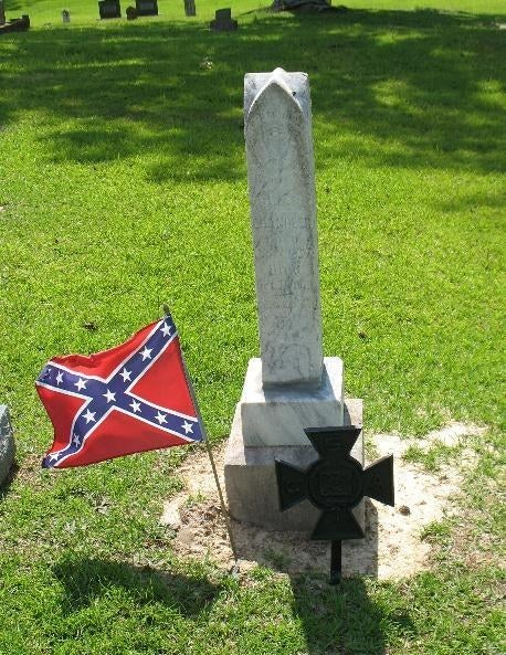 Silas Chandler's headstone.