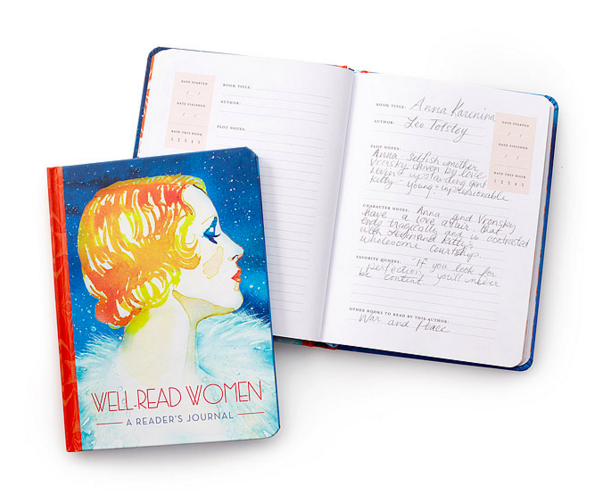 Filled with stunning watercolor portraits of female literary characters. Get it from Uncommon Goods for $14.95.