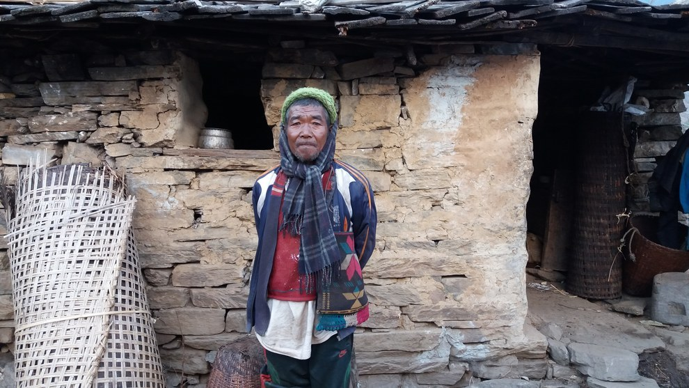 Narayan Ghale, 61, said he has only been able to temporarily patch up the damage caused to his home, and he is too afraid to sleep inside because of aftershocks. Instead he sleeps in a small shack he made from plywood.