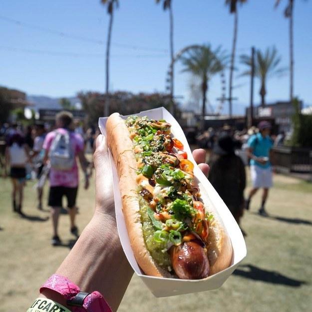 La comida en Coachella.