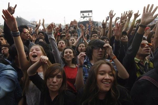La emoción del público mexicano.
