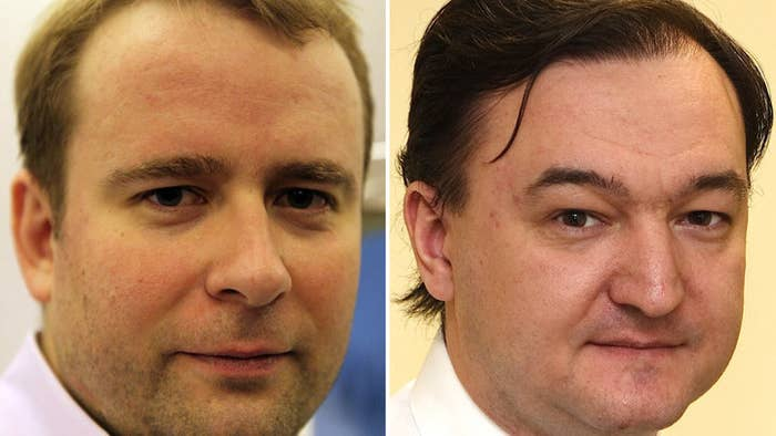 Andrey Pavlov (left), and Sergei Magnitsky (right).