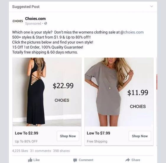 Here 39 s why you should think twice before clicking on that for T shirt ads on facebook