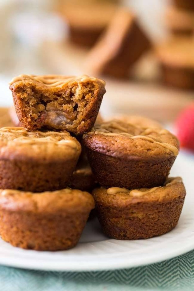 Or these peanut butter muffins with whole strawberries baked in that will keep you full all-day.