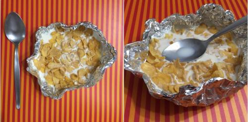 O te hiciste un plato de papel de aluminio: