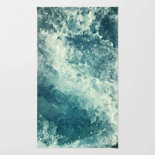 Or order a rug that will make your floor look like the ocean.