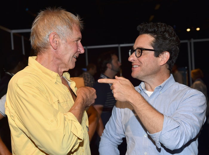 Harrison Ford and director J.J. Abrams at Disney's D23 Expo 2015 in Anaheim, Calif.
