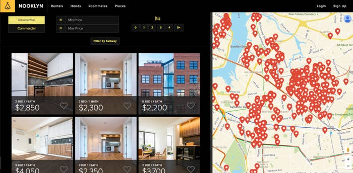 Nooklyn Is A Standard Apartment Finding Website Rentals Roommates With Emphasis On