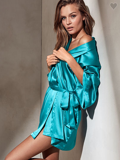 This luscious silky robe to wrap your tired body in a luxurious embrace after a long day of wearing pants.