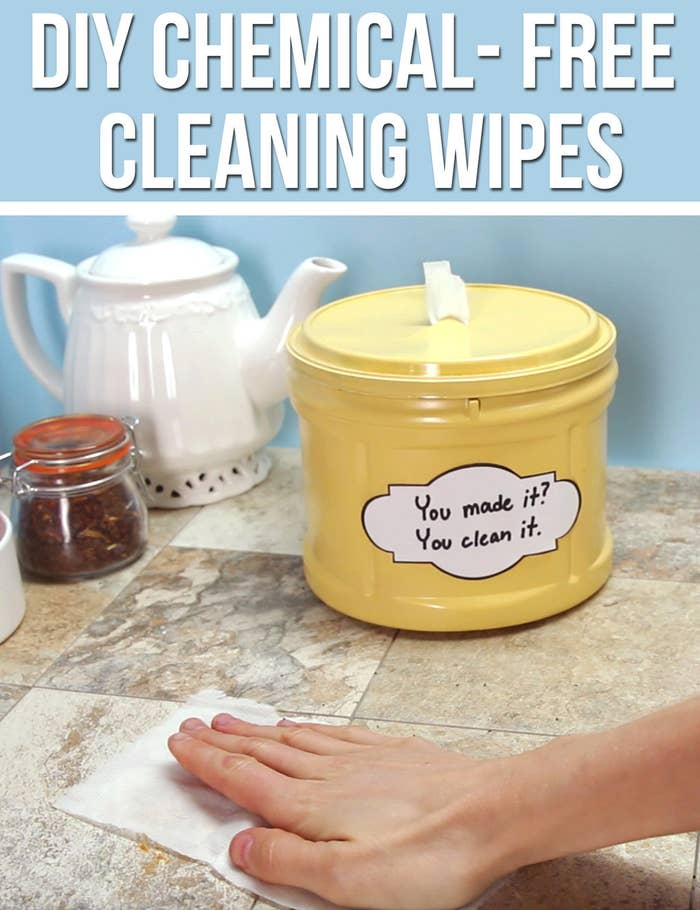 Here S How To Make Chemical Free Cleaning Wipes For Your Home