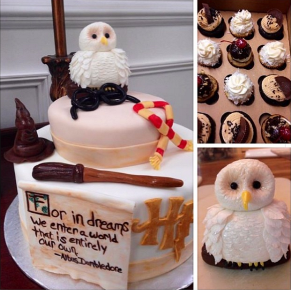 baby shower set the standard for harry potter themed baby cakes