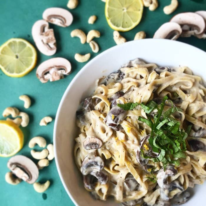 The creamiest is always the dreamiest and this Vegan Mushroom Fettuccine Alfredo is out of this world!