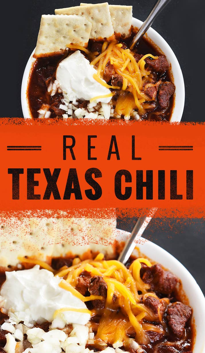the best most authentic chili has no beans and tons of meat