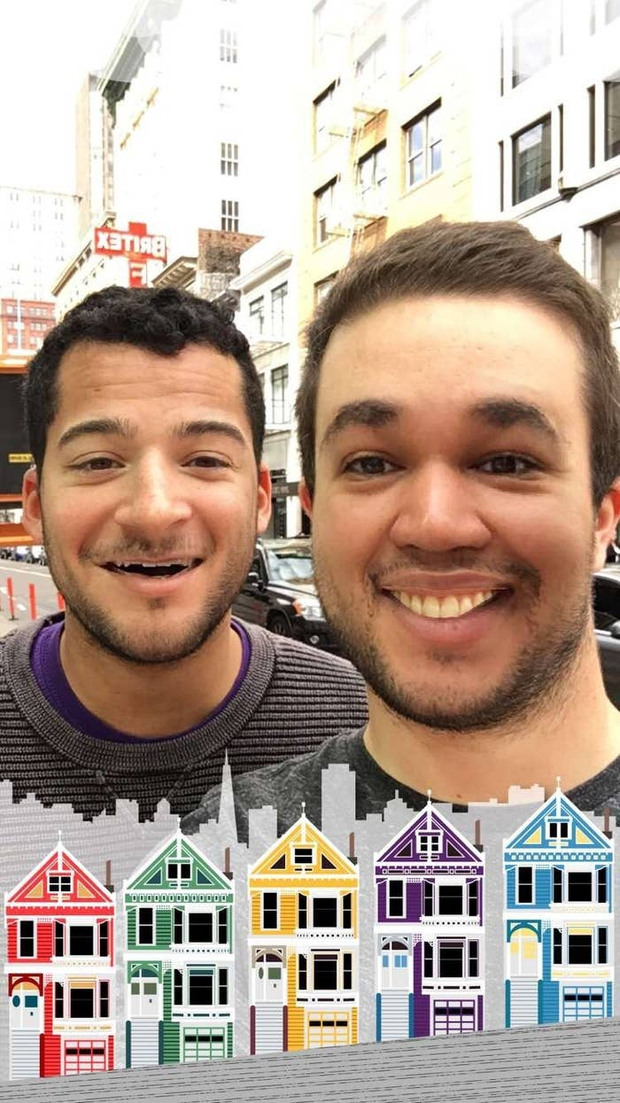 The Snapchat filter that switches your face with someone else's face.