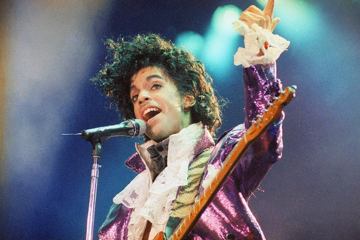In this February 18th, 1985 photo, Prince performs at the Forum in Inglewood, California. Prince, widely acclaimed as one of the most inventive and influential musicians of his era was found dead at his home on Thursday, in suburban Minneapolis. As news of his death spread, pictures like this from his career began circulating on social media. He was 57.