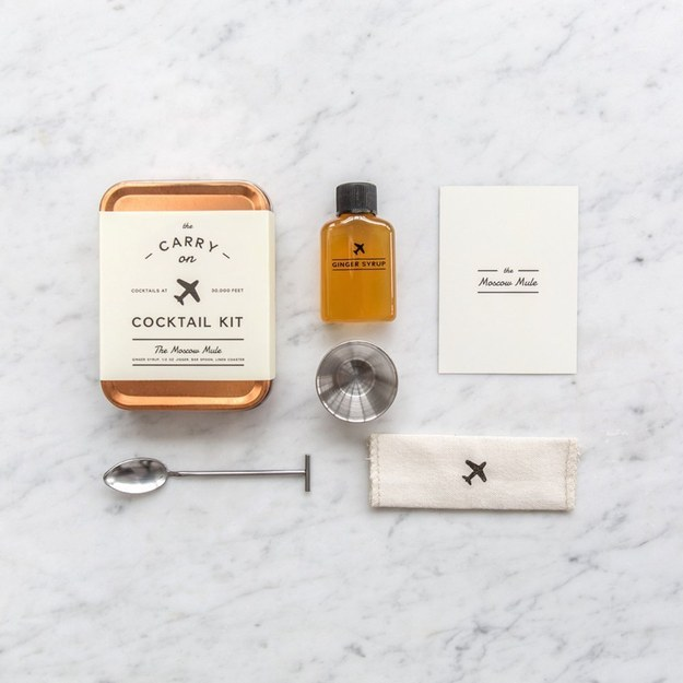 This little Moscow mule cocktail kit that's perfect for when you're traveling.