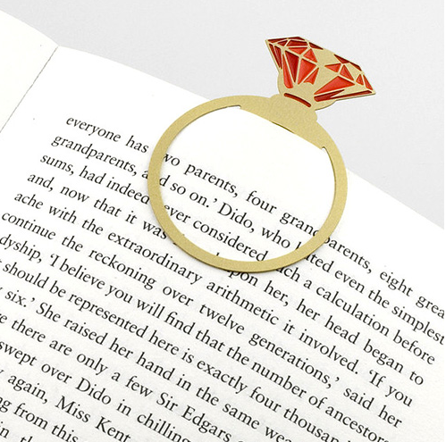 This regal bookmark that will definitely make you want to read more.