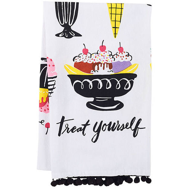 This pair of tea towels to remind her to treat herself every so often.