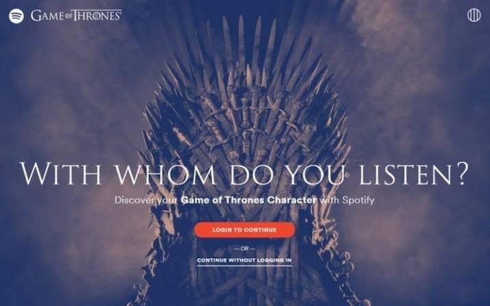Resultado de imagen para spotify playlists game of thrones