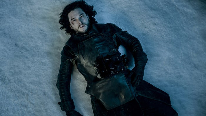 Not really. People want to know whether Jon Snow is dead or not.