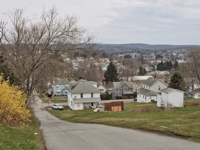 A view of DuBois, Pennsylvania, on March 31, 2016.