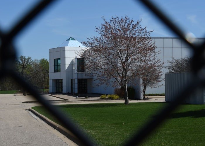 The entrance of Prince's Paisley Park compound.