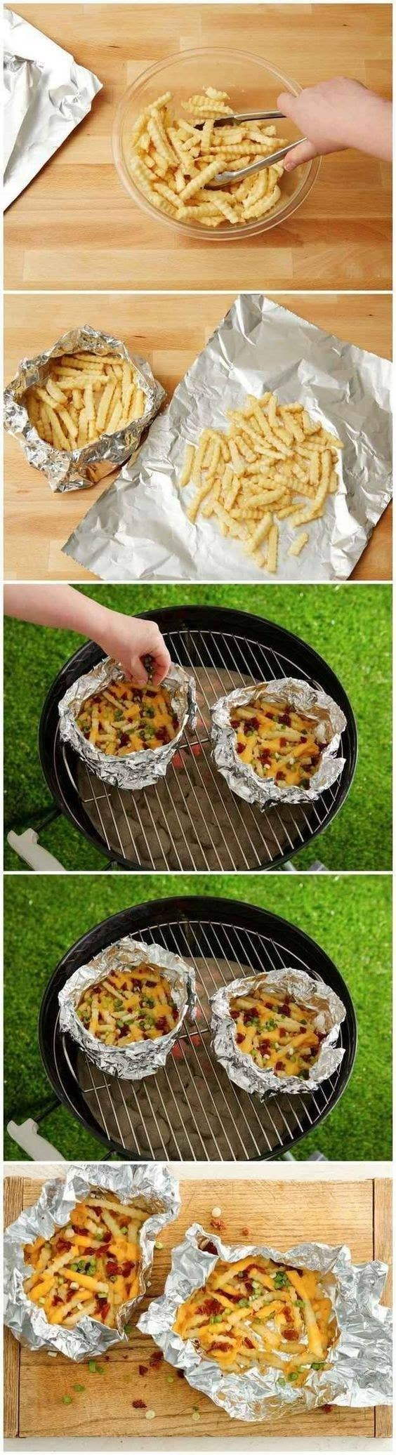 6 Foil Pack Loaded Fries