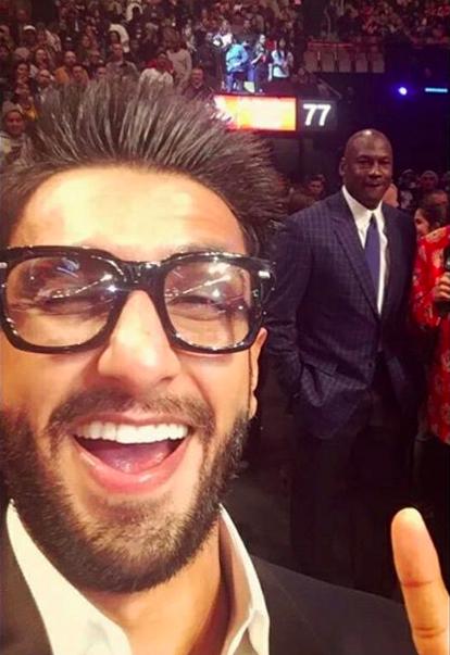 Take a creep-selfie with MICHAEL JORDAN.