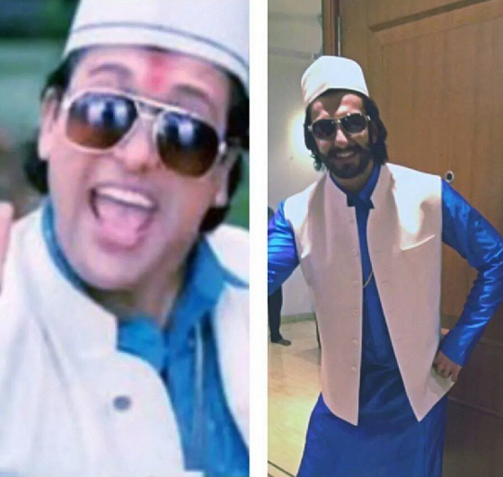 Casually dress up as Govinda for an Instagram. Why not.