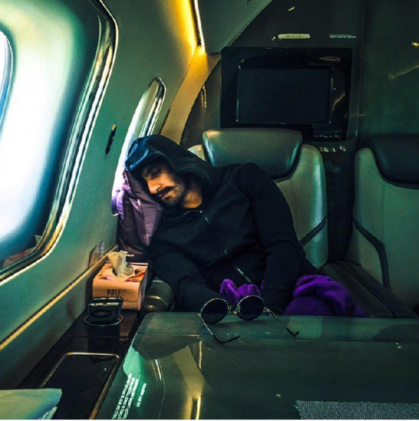 Nap in a chartered airplane because your fabulous life is too exhausting.