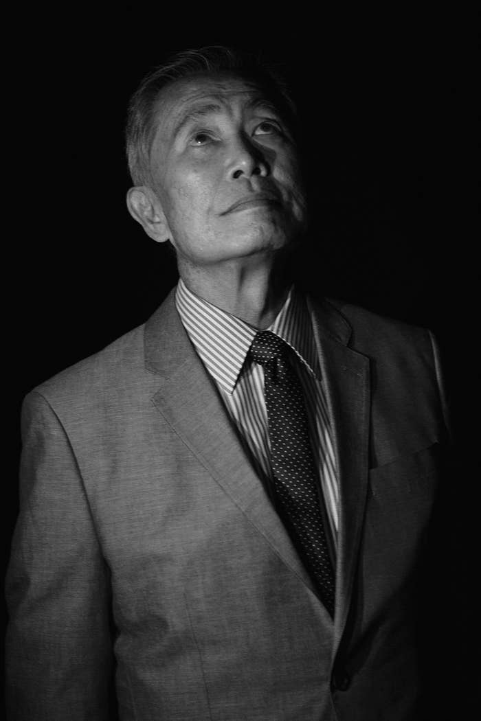 Takei waits backstage before speaking during We Day at KeyArena on April 20 in Seattle.