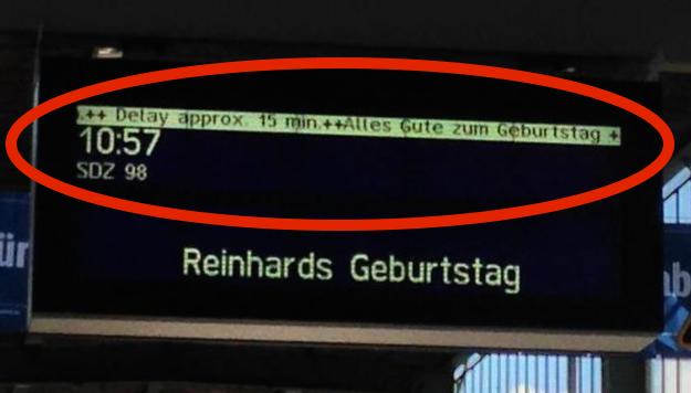 Lustige Bahndurchsagen