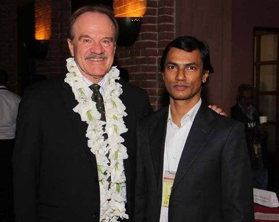 Mannan (right), who also worked for the U.S. Agency for International Development, was the editor of quarterly magazine Roopbaan.