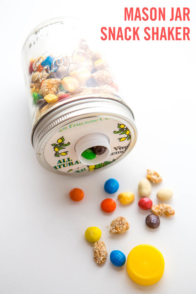 Mason Jar Snack Shaker