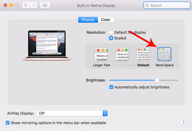 Despite the fact that the MacBook's display is 12 inches, you can make it feel like 13 with a simple settings tweak.
