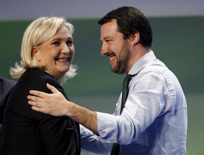 Northern League leader Matteo Salvini and France's far-right National Front leader Marine Le Pen. EU leaders fear the two could be among those who would exploit a Brexit vote to further fuel anti-EU sentiments.