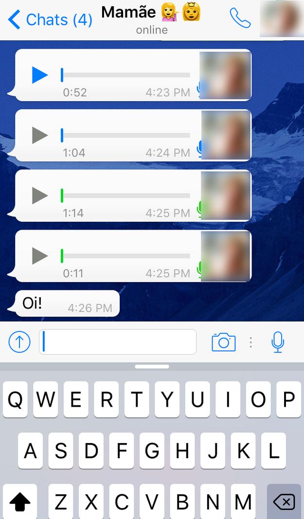 Quando descobriram as mensagens de áudio.