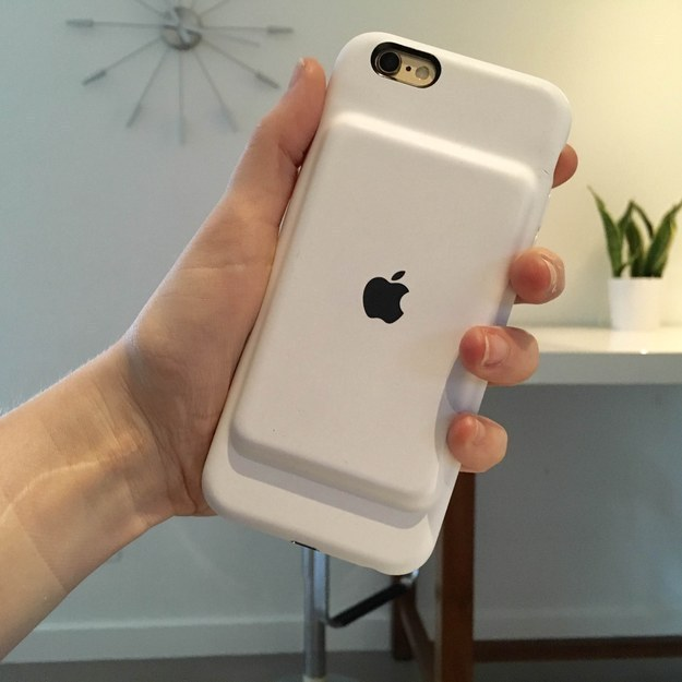 An iPhone battery case for the mom who is always using her phone.